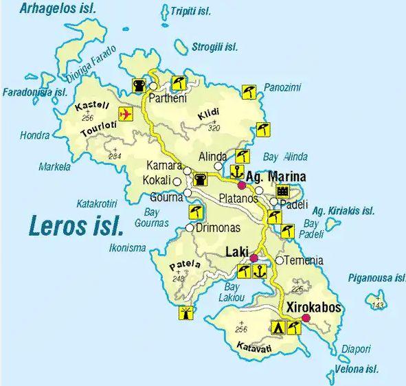 Leros map